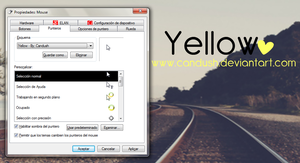Yellow Cursor - By; Candush by Candush