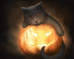 Halloween Cat by JulFilippova