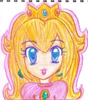 Crayon drawing 2 - Peach by Juliana1121