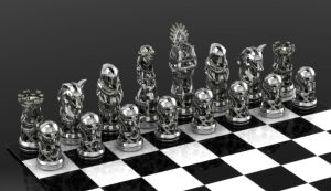 GoT Stark Chess Set by GeoSpooky