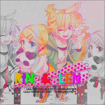 Rin y Len Kagamine}'~ by PartyxGlam