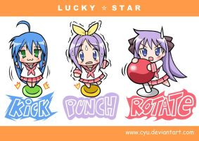 Chibi Lucky Star by cyu