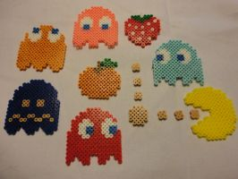 Pac Man Magnets by RenjiZabimaru6