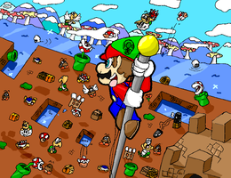 Super Mario bros. What a view by FANG-FOREVER