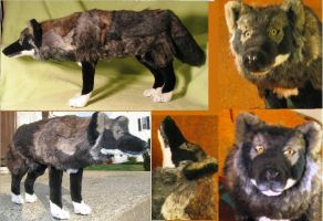 Melanistic Timber Wolf Plush Toy 2 by Jarahamee