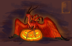 Halloween and Hippogryphs by Virensere
