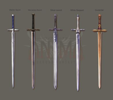 Anima: Knight swords set 1 by Wen-M