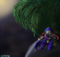 The Weeping Willow that guards space by HezuNeutral