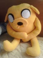 Adventure Time: First attempt at Jake Plush by Raxyl