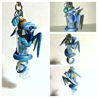 Ice Dragon bottle wrap by LittleCLUUs