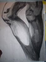 Figure Drawing_Charcoal legs by DeltaVT