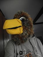 Brown eagle fursuit head - view 3 by THEsquiddybum