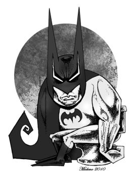 Flatulence Batman by mickmoart