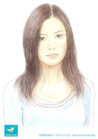 Ms Yui Portrait drawing 2 by taakaa