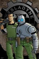 Atomic Robo and Jenkins by firepunk626