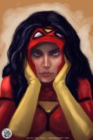 SPIDERWOMAN by juliodelrio