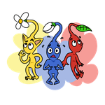 Red, Blue and Yellow Pikmin by JamToon