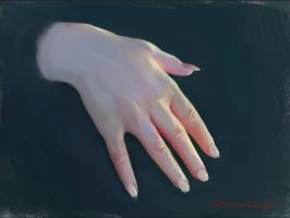 Hand study by Icecoldart