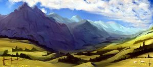 100 - Mountain pasture by e-will