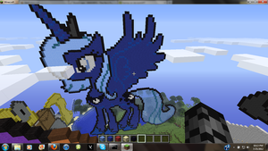 Princess Luna MLP Minecraft Art by hermp