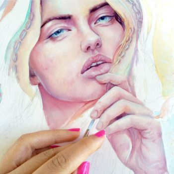 wip of a new oil painting by MonaParvin