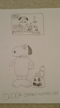 Airblown Inflatable Halloween Snoopy and Woodstock by Gemmygod