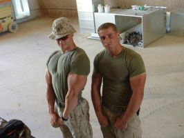 Musclemorphed Military Hunks1 by free42dream