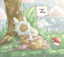 ART TRADE: Nap after lunch. by meriimerodii