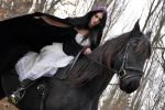 Horse and Rider Stock 04 by MeetMeAtTheLake2Nite