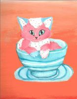 Kitty paintinnnggg by moonehhfox