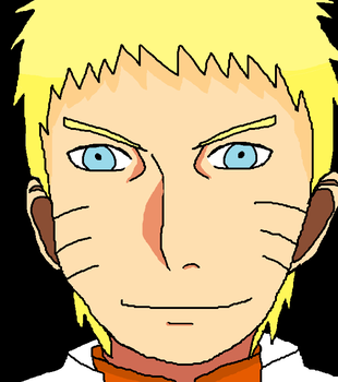 Quick ms paint drawing of Hokage Naruto XD by Fran48
