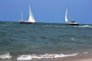 FortMaconBeach Boats by MrsChibi