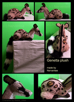 Crocheted Genetta plush by Nerventee