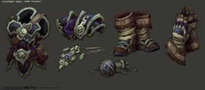 Darksiders II Armor parts 3 (literal armor parts) by CorruptedDeath