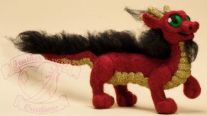 Needle Felted Chinese Dragon by The-GoblinQueen