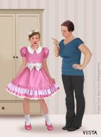 You'll wear what you're told to, young man! by Eves-Rib