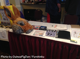 My table at PAW2014 by GuineaPigDan
