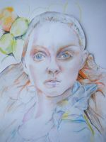 Lily Cole with colour by Prosaic24