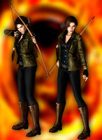 Lara Croft as Katniss Everdeen DL by ZayrCroft