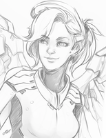 Overwatch - Mercy by Scorch-D