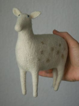needle felted deer by vriad-lee