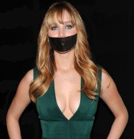 Jennifer-Lawrence gagged by PhM 001 by PhMBond