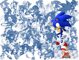 Sonic 20th Wallpaper by CarbonToons