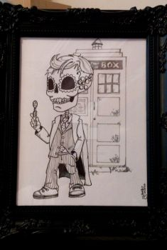 Dr Who Mexican Sugar Skull. by DonCentrique