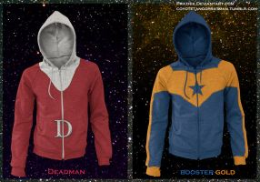 Deadman / Booster Gold Hoodies! by prathik