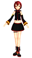 MMD Newcomer - Infected Akaiko + DL by CrimsonKingie