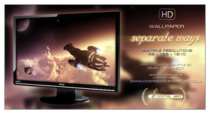 'Separate Ways' WALLPAPER by overseer