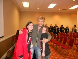 Me, Vic Mignogna, and Sister by Wingeddeath243