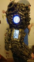 alien astronaut/ Ancient Astronaut steampunk arm by cosplayoverlord