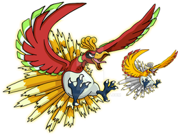 250 - Ho-Oh - Art v.2 by Tails19950